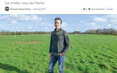 Faire pâturer un grand troupeau, c'est possible – Les rendez-vous de l'herbe – Rédaction Paysan Breton – 24 février 2019