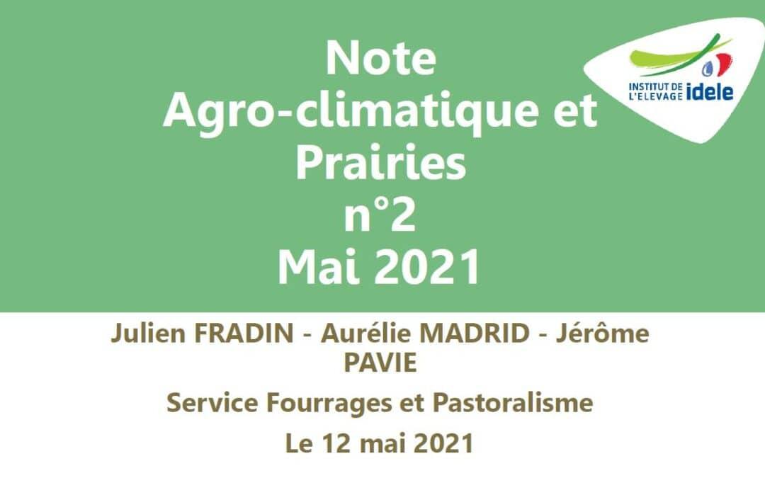 Note agroclimatique et prairie n°2 – 12 mai 2021